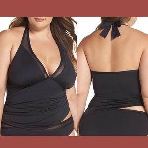 NWT 3X Tommy Bahama Mesh Halter Tankini Bikini Top